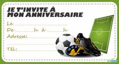 Invitation anniversaire Chaussures à crampons