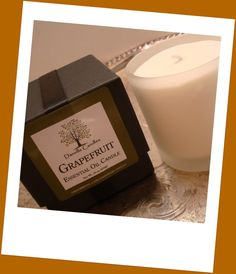 Grapefruit Aromatherapy Soy Candle Home Decor by DanvilleCandles, $28.00