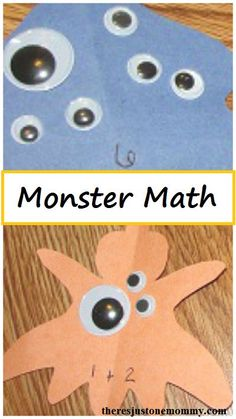 Monster Math -- hands-on math activity for the homeschool or traditional school kindergarden classroom
