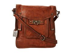 Frye Cameron Magazine Crossbody Cognac Antique Pull Up - Zappos.com Free Shipping BOTH Ways