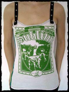 bd8a7089242f0 Sublime shirt tank top ska clothing punk rock alternative apparel  reconstructed