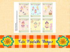 Printable Gift Cards, Cute Cards, Fairy Cards , CRNARPART2F-POPPHADAB-19 de CutePrintableDesigns en Etsy
