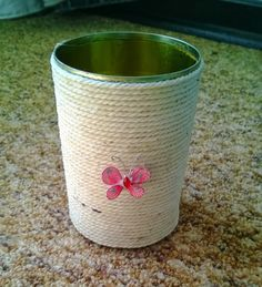 Laura's DIY crafts: Tin can flower vases
