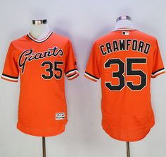 22287f55a Giants  35 Brandon Crawford Orange Flexbase Authentic Collection  Cooperstown Stitched MLB jerseys San Francisco Giants