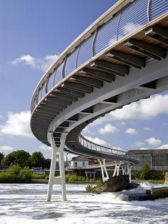 Zenith Music Hall Saint-Etienne structural frame Pedestrian bridge
