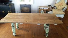 @TheMiddlewick - upcycled door plus old table legs into fabulous table! #UpcycledHour