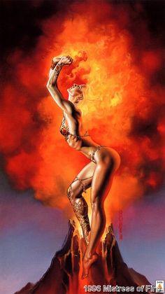 Mistress of Fire by Boris Vallejo