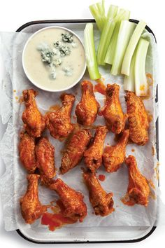 Chicken wings take to a number of full-flavored preparations, and make a great addition to any finger food spread.