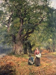 Gathering Firewood ~ Henry John Yeend King ~ (English: 1855-1924)