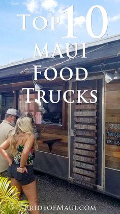 Maui has some amazing food trucks that will help! Oahu Vacation, Trip To Maui, Vacation Trips, Vacations, Hawaii Travel Guide, Maui Travel, Maui Hawaii, Kauai, Maui Food