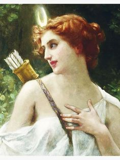 Guillaume Seignac - Diana the Huntress - paintings of Diana (Artemis) - Wikimedia Commons Renaissance Kunst, Renaissance Paintings, Renaissance Jewelry, Potnia Theron, Artemis Goddess, Artemis Art, Moon Goddess, Goddess Art, Aphrodite Goddess