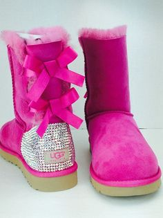 Custom UGG Boots made with Swarovski Bailey Bow by TheILLlines Check our selection UGG articles in our shop!