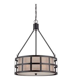 Quoizel Lighting Marisol 4 Light Pendant in Teco Marrone CKMS2822TM #lightingnewyork #lny #lighting