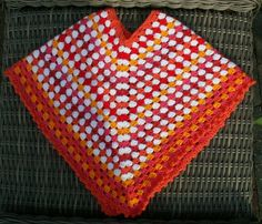 Poncho #2 I made for a little Rumanian girl