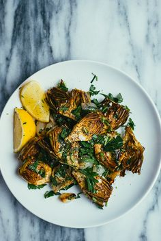 roasted baby artichokes and pearl onions // brooklyn supper