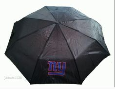 NFL NEW YORK GIANTS Umbrella - NY Giants Compact Umbrella - Forever Collectables #ForeverCollectibles #NewYorkGiants