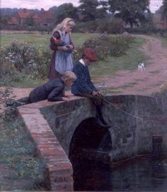 A Nibble-Edmund Blair Leighton (1853 – 1922, English)