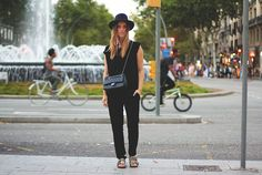Dutch blogger Linsey Sijmons - http://www.pose-blog.com/ - looking sharp in our black jumpsuit!  #jumpsuit #streetstyle #dutch #fashionblogger