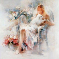 Kai Fine Art is an art website, shows painting and illustration works all over the world. Counted Cross Stitch Patterns, Art World, Cat Art, Female Art, Sculpture Art, Art Gallery, Canvas Art, Illustrations, Fine Art