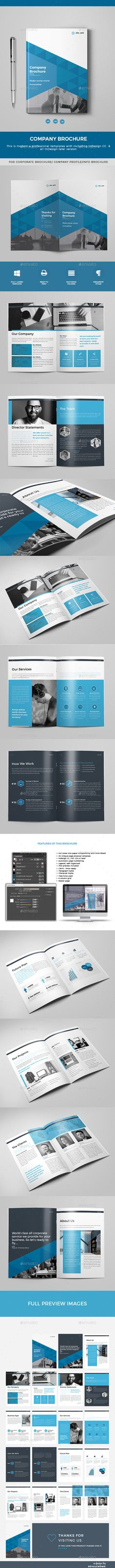 Brochure  — InDesign Template #template #design #brochure #business…