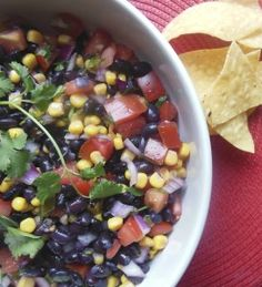Black Bean and Corn Salsa l www.lorisculinarycreations.com l #salsa # ...