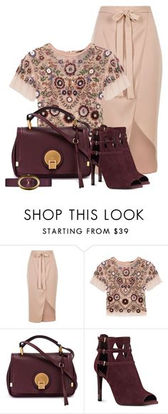 """Untitled #1347"" by carla-palmisano-50 ❤ liked on Polyvore featuring River Island, Needle & Thread, Chloé, Nine West and Marc Jacobs"
