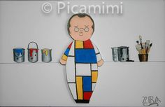 Piet Mondrian by Picamimi Piet Mondrian, Icons, Drawings, Pictures, Fictional Characters, Art, Photos, Art Background, Photo Illustration