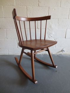 Mid Century Modern Rocking Chair George Nakashima for Knoll Rocker Straight Back #KnollInternational