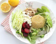 Simple Greek Pork and Quinoa Salad