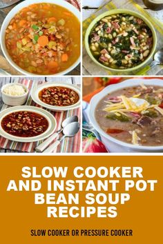 Vegan Bean Soup, Bean Soup Recipes, Chili Recipes, Slow Cooker Recipes, Slow Cooker Bean Soup, White Bean Soup, Dried Beans, Stew, Great Recipes