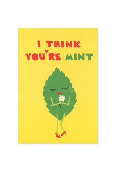 I Think You're Mint Card at Urban Outfitters