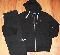 NWT Polo Ralph Lauren Mens Classic Fleece Hooded Track  amp  Sweat Suits M  L XXL in 7c2c1ee53b