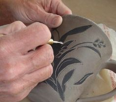 Lakeside Pottery PDF on sgraffito technique on clay mug. http://www.lakesidepottery.com/Pages/Pottery-tips/How-to-create-sgraffito-pottery-tutorial.htm#