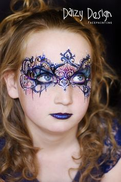 Face Painting by Daizy Design. Hire a professional face and body painter, Christy Lewis, for your next birthday party or event. Princess Face Painting, Adult Face Painting, Mask Painting, Mime Face Paint, Face Paint Makeup, Eye Makeup, Face Painting Designs, Paint Designs, Maquillage Halloween