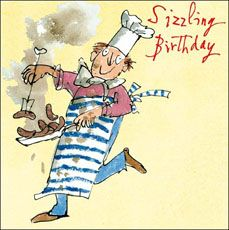 Click to view the Quentin Blake Sizzling Birthday, Birthday Card