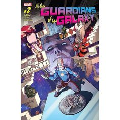 All-New Guardians Of The Galaxy (2017-) #2 Written by Gerry Duggan Art by Aaron Kuder Cover by Aaron Kuder Once the Guardians find themselves caught in a war between The Collector and The Grandmaster there will hardly be time to explain why Groot can't grow any bigger what Gamora is searching for or why Drax has sworn off violence! But don't worry we will  with a new twice-monthly schedule ALL-NEW GUARDIANS OF THE GALAXY has space for ALL your Marvel Cosmic needs!