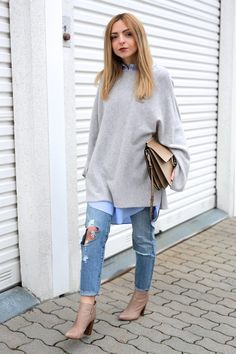Layering Look with Levi's 501 CT