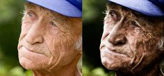 Dramatic Wrinkles Photo Effect Tutorials in Photoshop