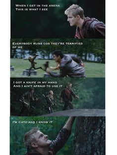Well... Nothing on Peeta and I know it but Cato owns everything he does...