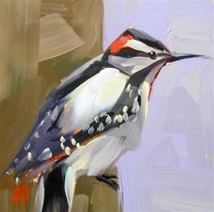 """Hairy Woodpecker"": Angela Moulton."