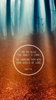 For You bless the godly, O Lord.... You surround them with Your shield of love :)