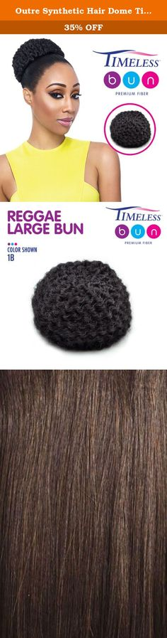 Outre Synthetic Hair Dome Timeless Reggae Large Bun (4). Trendy, fun, and ready to be applied right away. Fast and super-easy to use for women of all ages. Perfect for casual or elegant wear Comes with convenient hair pins to hold it in place.