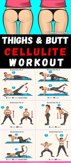 6 Workout to Reduce Cellulite On Your Thighs & Butt
