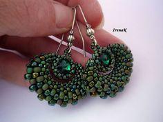 Náušnice - Taštička Emerald - 4389618_