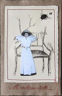 Lovely little composition using the twig chair from Mad Tea Party and a vintage photo.