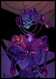 pixelated-nightmares: Tech Skull by Ultidraw Cyberpunk Aesthetic, Arte Cyberpunk, Cyberpunk 2077, Cyberpunk Fashion, Arte Dope, New Retro Wave, Cyberpunk Character, Psy Art, Tatoo Art