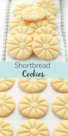 of the time when you think of shortbread cookies the word dry comes to mind. However, these Classic Shortbread Cookies are soft, buttery, and made with just 5 simple ingredients. They are the perfect shortbread cookie for the holidays or any time of year! Chocolate Marshmallow Cookies, Chocolate Chip Shortbread Cookies, Buttery Shortbread Cookies, Toffee Cookies, Shortbread Recipes, Yummy Cookies, Chip Cookies, Sugar Cookies, Homemade Shortbread