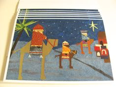 xmas card bethelehem | Christmas Card Set Christian Holidays Three Wise Men Christmas Carol ...