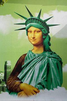 Mona takes a liberty