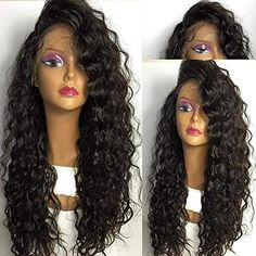 Short Curly Lace Front Human Hair Wigs Pre Plucked Full Lace Wigs With Baby Hair Curly Lace Front Wigs, Short Hair Wigs, Human Hair Lace Wigs, Synthetic Lace Front Wigs, Curly Wigs, Synthetic Hair, Remy Wigs, Curly Hair Styles, Natural Hair Styles